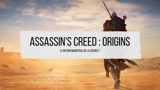 Assassin's creed origins avis